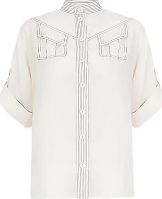 Zimmermann Camisa Utility Off White - Mulher - 3 AU