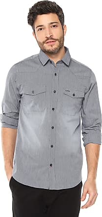 Dimy Camisa dimy Slim Cinza
