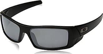 Oakley Mens 12-856 Gascan Iridium Polarized Rectangular Sunglasses, Grey/Black, 60mm