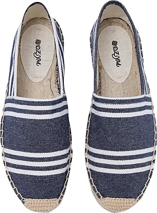 ICEGREY Womens Causal Loafer Flat Slip On Espadrille Blue Strips 2 UK 4.5