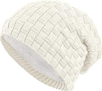 05dcfb67228a85 Balinco warm gefütterte Beanie mit Teddy-Fleece Fütterung Wintermütze mit  Flechtmuster Einheitsgröße für Damen &