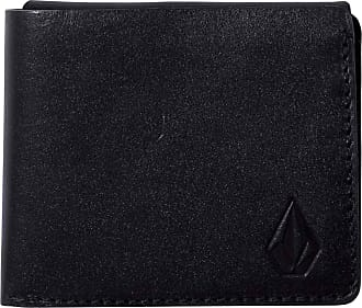 Volcom 3Fold Leather Wallet Black O/S (one size) | NEW Volcom Mens Wallet