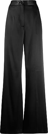 Blumarine high-waist satin trousers - Preto