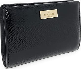 Kate Spade New York Patent Leather Tellie Bixby Place Medium Wallet Black