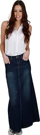 31d1c2ade2 Cindy H. Long Vintage Wash Denim Skirt SKIRT94 Womens Maxi Skirt Full  Length Denim Skirt