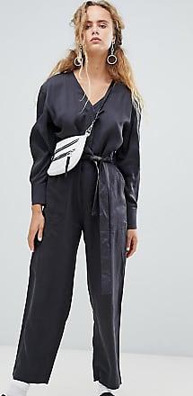 Weekday pocket detail utility jumpsuit in grey