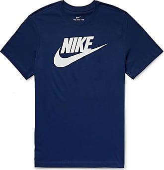 Nike Logo-print Cotton-jersey T-shirt - Navy