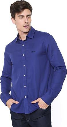 Zune Jeans Camisa Zune Reta Textura Azul-marinho