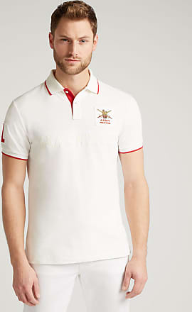 Army Polo Mens Cotton Shirt   Large   Chalk