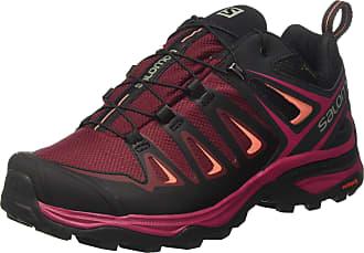 Salomon Womens Ultra 3 GTX Low Rise Hiking Shoes, Multicolor (Tawny Port/Black/Livi), 4.5 UK