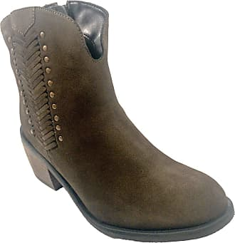 JD Williams Joe Browns Brown Khaki Ankle Boots with Block Heel - Size 5 UK