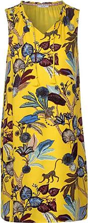 Cecil Kleid mit Dschungelmuster - radiant yellow