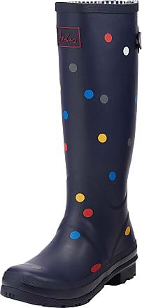 Ladies Womens BLUE Wellies Dunlop Sport Rubber Wellington Calf Boots Size 8 42