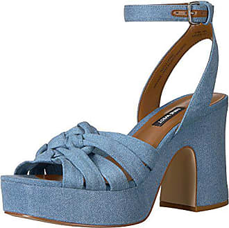 16ff7ebb07c0 Nine West Womens FETUCHINI Heeled Sandal Light Blue Denim 8.5 Medium US