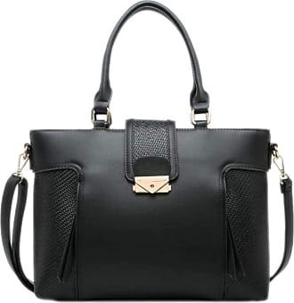 Girly HandBags Girly HandBags Womens Mix Texture Shoulder Bag - Black
