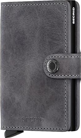 Secrid Übergröße : Secrid, Geldbeutel in Vintage-Optik in Grau für Herren