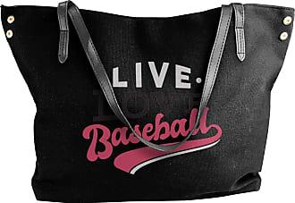 Juju Live Love Baseball Womens Classic Shoulder Portable Big Tote Handbag Work Canvas Bags