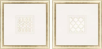 Paragon Picture Gallery Gilded Lattice Framed Wall Art - Set of 2 - 7059