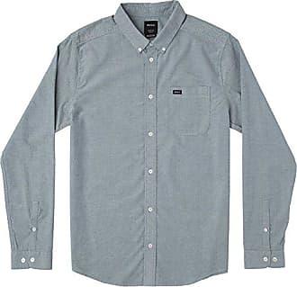 dc59b34367f Rvca Mens Thatll DO Stretch Long Sleeve Button UP Shirt
