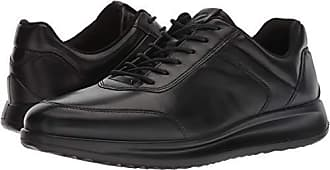 Ecco Mens Aquet Tie Oxford, Black Sneaker, 48 M EU (14-14.5 US)
