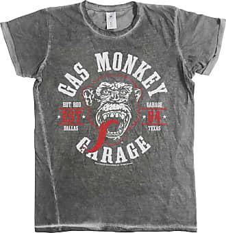 Gas Monkey Garage Official T Shirt 04 Vintage Round Seal Urban Grey M
