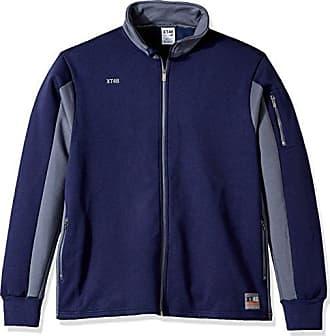 Soffe MJ Mens Big and Tall Bonded Polair Trekker Jacket, Navy/Gunmetal/US1, XX-Large