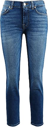 7 For All Mankind Jeans Roxanne Ankle Blau
