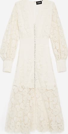 The Kooples Ecru long-sleeved lace dress - WOMEN
