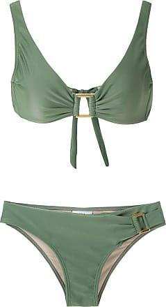 Amir Slama Bikini mit Metallic-Effekt - Grün