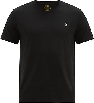 Polo Ralph Lauren Logo-embroidered Cotton Pyjama T-shirt - Mens - Black