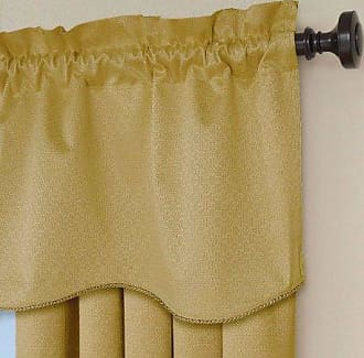Eclipse 42 x 21 Short Valance Small Window Curtains Bathroom, Living Room, and Kitchens, 21-Inch, Gold
