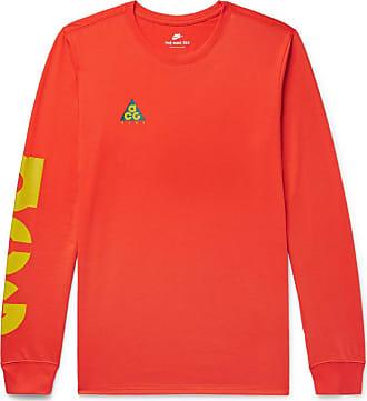 Nike Acg Logo-print Cotton-blend Jersey T-shirt - Red