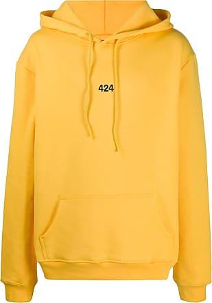 424 Kapuzenpullover mit Logo-Stickerei - Gelb