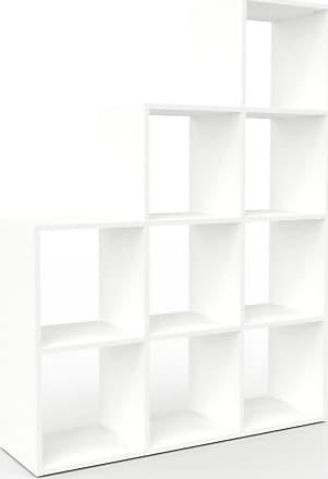 MYCS Bibliothèque - Blanc, design, étagère pour livres, sophistiquée, ouverte et fonctionelle - 118 x 157 x 35 cm, personnalisable