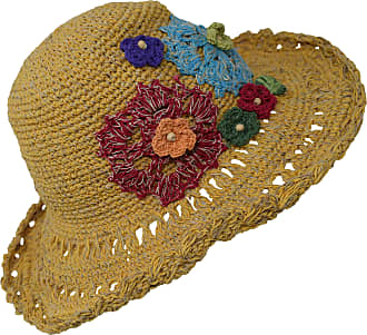 Gheri Hemp Cotton Straw Sun Hat Panama Wide Brim Summer Holiday Colorful Rainbow C