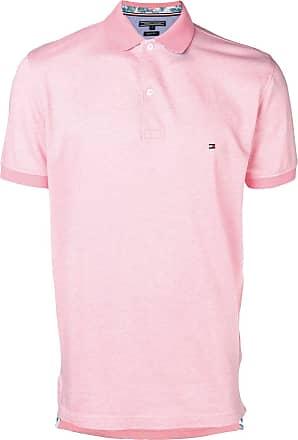 Tommy Hilfiger Camisa polo com logo bordado - Rosa 16bbba7494cda