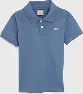 Milon Camisa Polo Milon Infantil Lisa Azul