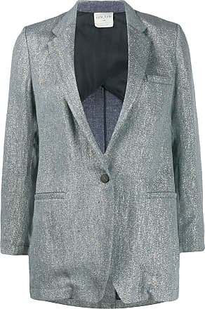 Forte_Forte metallic single-breasted blazer - Blue