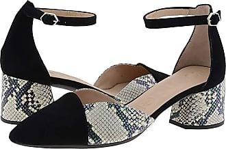 Wonders I-8002 High Heel Leather Shoes Size: 7 Color: Black
