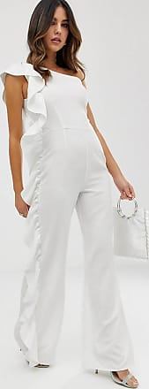 Unique21 Unique21 one shoulder jumpsuit-White