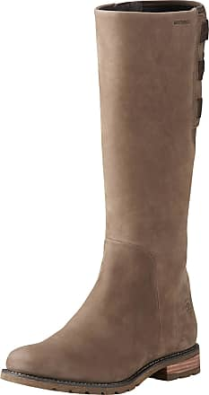 Ariat Womens Clara Waterproof Boots in Fawn Leather, B Medium Width, Size 4, by Ariat