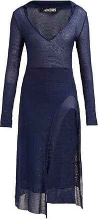 Jacquemus Notte Knitted Dress - Womens - Navy