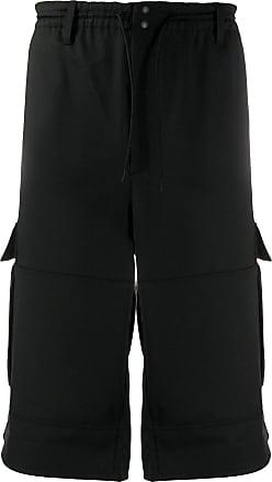 Yohji Yamamoto wide leg cargo shorts - Black