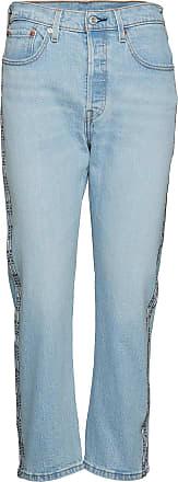 Levi's 501 Crop Dibs W/ Tape Raka Jeans Blå LEVI´S Women