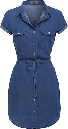 SS7 NEW Denim Blue Shirt Dress Sizes 8 - 14 (UK - 16, Denim Blue)