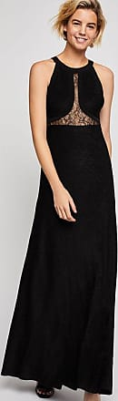 BCBGeneration Metallic Lace Inset Maxi Dress