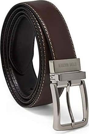 Steve Madden Mens Dress Casual Every Day Reversible Leather Belt