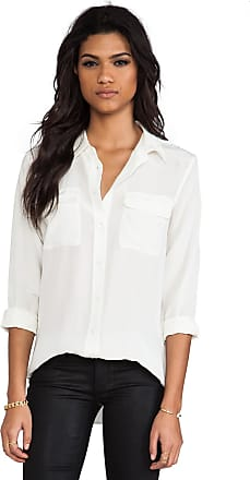 Equipment Slim Signature Blouse in Ivory