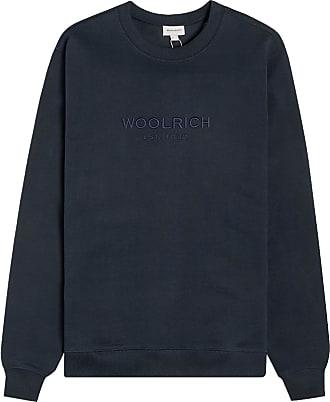 Woolrich Luxus leichtes Sweatshirt mit Rundhalsausschnitt Melton Blue - L