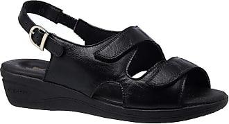 Doctor Shoes Antistaffa Sandália Feminina Esporão em Couro Preto 7999 Doctor Shoes-Preto-40